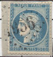 Yvert 60 A Sur Fragment - GC 4956 ? NISSAN (Hérault)  Indice 10 (1260 ASO) - 1849-1876: Classic Period