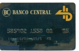 Bank Old Credit Card Spain Visa Or  Master BANCO CENTRAL - Tarjeta De Credito - Cartes De Crédit (expiration Min. 10 Ans)