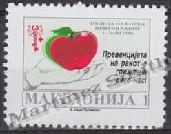 Macedonia 1996 Beneficience Yvert 53, Week Against Heart Problems - MNH - Macedonia