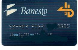 Bank Old Credit Card Spain Visa Or  Master BANESTO - Tarjeta De Credito - Cartes De Crédit (expiration Min. 10 Ans)