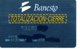 Bank Old Credit Card Spain Visa Or  Master BANESTO TOTALIZACION CIERRE - Tarjeta De Credito - Cartes De Crédit (expiration Min. 10 Ans)