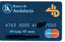 Bank Old Credit Card Spain Visa Or  Master BANCO DE ANDALUCIA  - Tarjeta De Credito - Cartes De Crédit (expiration Min. 10 Ans)