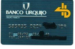 Bank Old Credit Card Spain Visa Or  Master BANCO URQUIJO  - Tarjeta De Credito - Cartes De Crédit (expiration Min. 10 Ans)