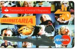 Bank Old Credit Card Spain Visa Or  Master BANCO SANTANDER CENTRAL HISPANO UNIVERSIDAD  - Tarjeta De Credito - Cartes De Crédit (expiration Min. 10 Ans)