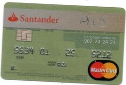 Bank Old Credit Card Spain Visa Or  Master BANCO SANTANDER   - Tarjeta De Credito - Cartes De Crédit (expiration Min. 10 Ans)