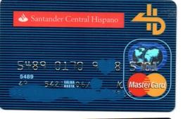 Bank Old Credit Card Spain Visa Or  Master BANCO SANTANDER CENTRAL HISPANO   - Tarjeta De Credito - Cartes De Crédit (expiration Min. 10 Ans)