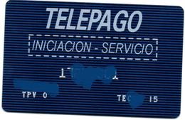 Bank Old Credit Card Spain Visa Or  Master TELEPAGO INICIACION SERVICIO  - Tarjeta De Credito - Cartes De Crédit (expiration Min. 10 Ans)