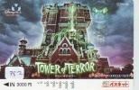 Carte Prépayée Japon (782) DISNEY SEA RESORT LINE - TOWER OF TERROR - Japan Prepaid Card - Disney