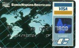 Bank Old Credit Card Spain Visa Or  Master BANCO HISPANO AMERICANO  - Tarjeta De Credito - Cartes De Crédit (expiration Min. 10 Ans)