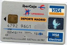 Bank Old Credit Card Spain Visa Or  Master BANCO IBERCAJA SPORTS MADRID  - Tarjeta De Credito - Cartes De Crédit (expiration Min. 10 Ans)