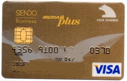 Bank Old Credit Card Spain Visa Or  Master BANCO CAJAMADRID IBERIA AIRLINES- Tarjeta De Credito - Cartes De Crédit (expiration Min. 10 Ans)