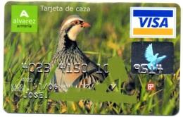 Bank Old Credit Card Spain Visa Or  Master BANCO PASTOR ( HUNT) BIRD PERDIZ- Tarjeta De Credito - Cartes De Crédit (expiration Min. 10 Ans)