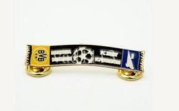 "Badge Pin: UEFA Champions League 2013-14  "" BV Borussia Dortmund "" Germany - Zenit St. Peterburg Russia - Football"