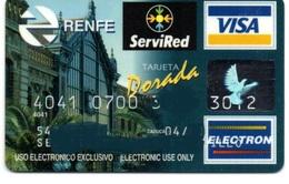 Bank Old Credit Card Spain Visa Or  Master RENFE TARJETA DORADA ( TRAIN TREN BAHN) - Tarjeta De Credito - Cartes De Crédit (expiration Min. 10 Ans)