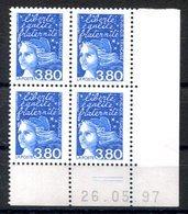 RC 16812 FRANCE N° 3093 COIN DATÉ MARIANNE DE LUQUET 20.05.97 NEUF ** TB MNH VF - Esquina Con Fecha