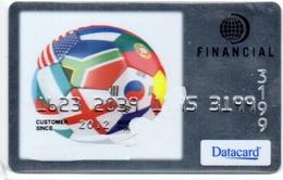 DEMO Bank Credit Card DATACARD  FOOTBALL WITH FLAGS OF DIFFERENT COUNTRIES - Tarjeta De Credito - Cartes De Crédit (expiration Min. 10 Ans)