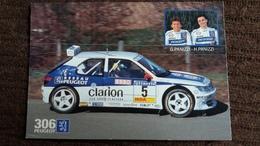 CPM CHAMPIONNAT DE FRANCE DES RALLYES 1996 VOITURE DE SPORT PEUGEOT 306 MAXI - Rally