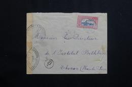 GUADELOUPE - Enveloppe De Basse Terre Pour La France En 1941 Avec Contrôle Postal, Affranchissement Plaisant - L 61454 - Lettres & Documents