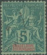 Guadeloupe 1876-1903 - N° 30 (YT) N° 30 (AM) Oblitéré. - Guadeloupe (1884-1947)