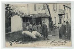 63 AUVERGNE #11268 UN COIN DE LA FOIRE N° 73 MARCHE COCHONS - France