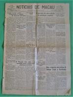 Macau - Jornal Notícias De Macau, Nº 1855, 26 Novembro De 1953 - Imprensa - Macao - China - Portugal - General Issues