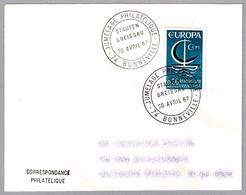 Hermanamiento Filatelico BONNEVILLE (Francia) Y STAUFEN BREISGAU (Alemania) - Jumelage. Bonneville 1967 - Sellos