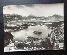 Slovenia BLED Yugoslavia PUTNIK Issue Card Island Lake Church Religion B5 - Joegoslavië