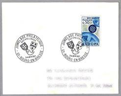 Hermanamiento Filatelico BOURG EN BRESSE (Francia) Y BAD KREUZNACH (Alemania) - Jumelage. Bourg En Bresse 1967 - Sellos