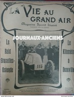 1902 KILOMETRE À DEAUVILLE - RAID BRUXELLES OSTENDE - THIELT - COOLSCAMP - WELLINGTON - MOTOCYCLETTE - Bücher, Zeitschriften, Comics