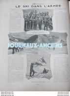 1904 LE SKI DANS L'ARMÉE - PELOTON DE SKIEURS MILITAIRES - PELVOUX - COL D'IZOUARD - Newspapers