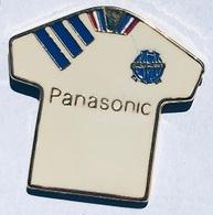 MAILLOT BLANC PANASONIC DE L'OM - OLYMPIQUE DE MARSEILLE - FOOTBALL - FOOT - CALCIO - SOCCER - FUSSBALL -        (25) - Football