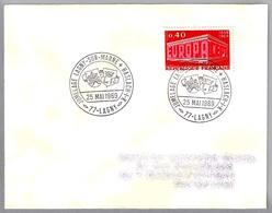 Hermanamiento LAGNY SUR MARNE (Francia) Y HASLACH IM KINZIGTAL (Alemania) - Jumelage. Lagny 1969 - Sellos