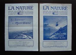 Due Riviste La Nature N. 2522 2697 1922  1925 Funicolare Monte Bianco - Books, Magazines, Comics