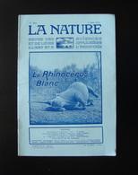 La Nature Rivista Francese N. 2513  3 Giugno 1922 Il Rinoceronte Bianco - Books, Magazines, Comics