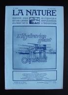 La Nature Rivista Francese N. 2454 16 Aprile 1921 L'Hydraviom Géant Caproni - Books, Magazines, Comics