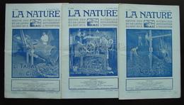 Tre Riviste La Nature N. 2580 2578  2584 1923 Tabacco Sigari Sigarette - Books, Magazines, Comics