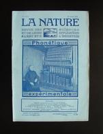 La Nature Rivista Francese N. 2472 20 Aout 1921 Phonetique Experimentale - Books, Magazines, Comics