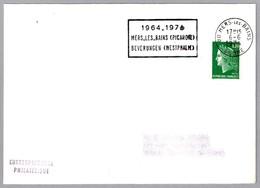 Hermanamiento MERS LES BAINS (Francia) Y BEVERUNGEN (Alemania) - Jumelage. Mers Les Bains 1974 - Sellos