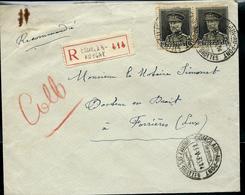 Doc. De COMBLAIN - AU - PONT Du 13/05/33 Avec Paire Du 318  En Rec. - 1931-1934 Kepi