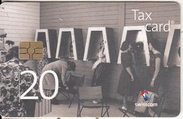"""SWITZERLAND - Treasurer Station In The Exhibition """"SAFFA"""" 1958(CHF 20), Chip GEM3.3, Tirage 66800, Exp.date 12/17, Used - Switzerland"""