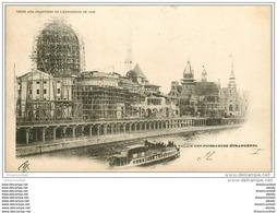 PARIS EXPOSITION UNIVERSELLE 1900. Chantiers Puissances Etrangères. Timbre 5 Centimes 1900 + Timbre Taxe 10 Cts - Expositions