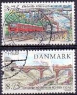 DENEMARKEN 1997 150 Jaar Spoorverbinding Kopenhagen-Roskilde GB-USED - Dänemark