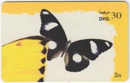 U.A.E. B-121 Prepaid Etisalat - Painting, Animal, Butterfly - Used - United Arab Emirates