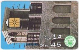 U.A.E. B-134 Chip Etisalat - Culture, Historic Building - Used - United Arab Emirates