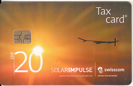 SWITZERLAND - Solar Airplane, Chip GEM3.3, Tirage 60000, Exp.date 12/17, Used - Switzerland