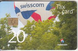 SWITZERLAND - Balloon, Swisscom Heissluftballon(CHF 20), Chip GEM3.3, Tirage 74000, Exp.date 01/14, Used - Zwitserland