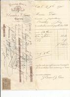 Facture Et Lettre De Change De F Carriére Sete A M Prost Pharmacien Arinthod 1896 - France
