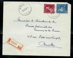 Doc.  De CHINY  Du 12/12/50  En Rec. - Poststempel