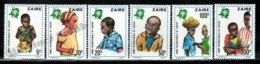 Zaire 1979 Yvert 951-56, Children. International Year Child - MNH - Zaïre