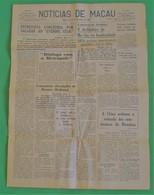Macau - Jornal Notícias De Macau, Nº 5972, 3 Novembro De 1967 - Imprensa - Macao - China - Portugal - General Issues